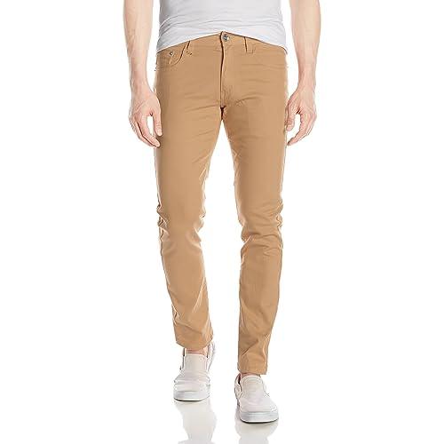 00f0a7da7c9 WT02 Men s Basic Color Twill Stretch Span Pants