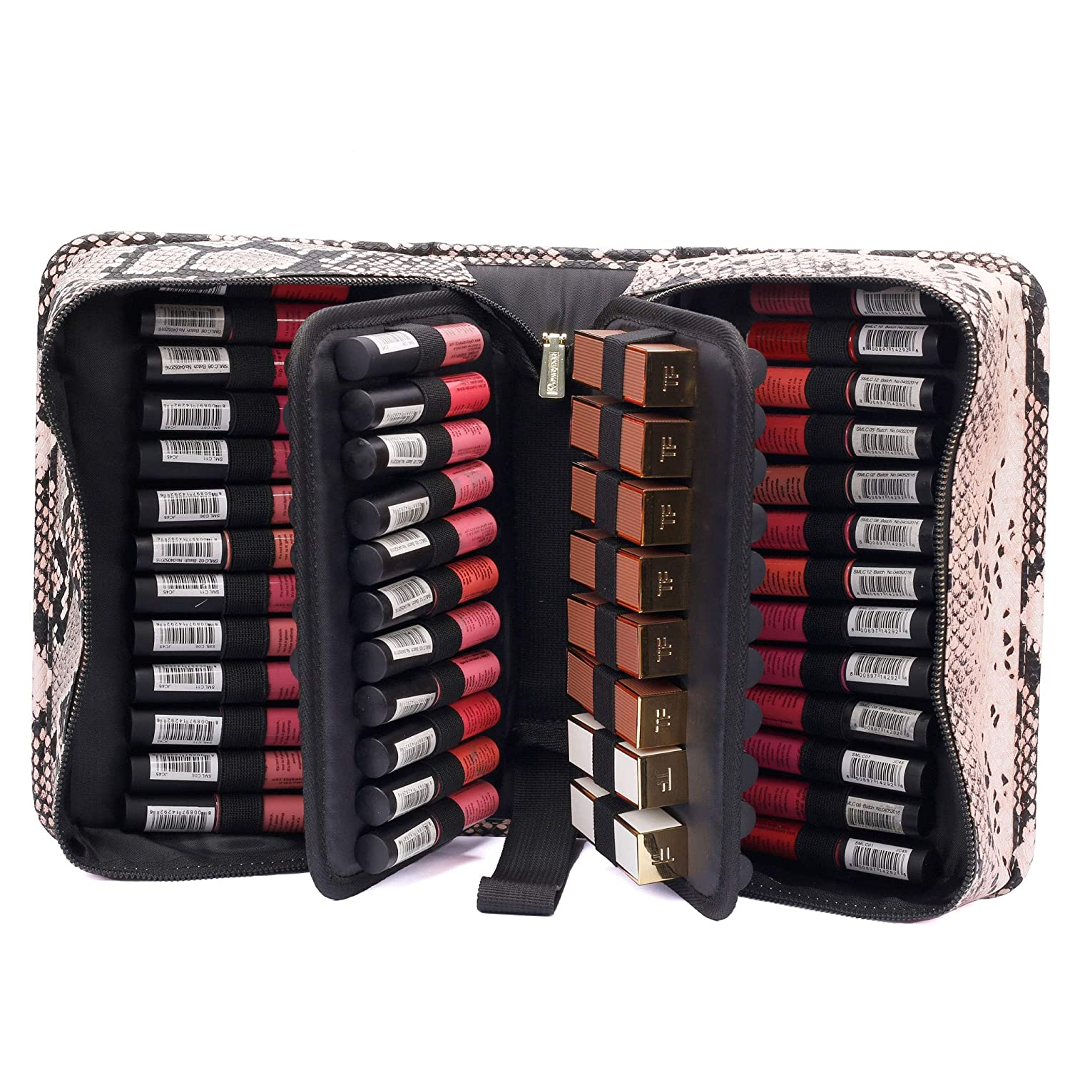 ROWNYEON Max 66% OFF Lipstick Organizer Bag Case Manufacturer regenerated product Sn Holder Slots 67
