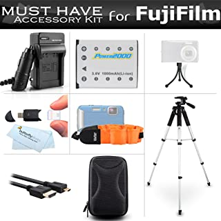 Complete Accessory Kit for Fuji Fujifilm FinePix XP70, XP80, XP90, XP120 Waterproof Digital Camera Includes Replacement NP-45A, NP-45s Battery + Charger + Case + Floating Strap + 57 Tripod + More