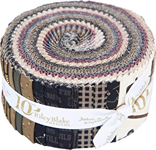 Stacy West Lumberjack Aaron Rolie Polie 40 2.5-inch Strips Jelly Roll Riley Blake Designs RP-8700-40