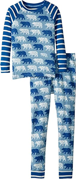 Polar Bear Silhouettes Organic Cotton Pajama Set (Toddler/Little Kids/Big Kids)