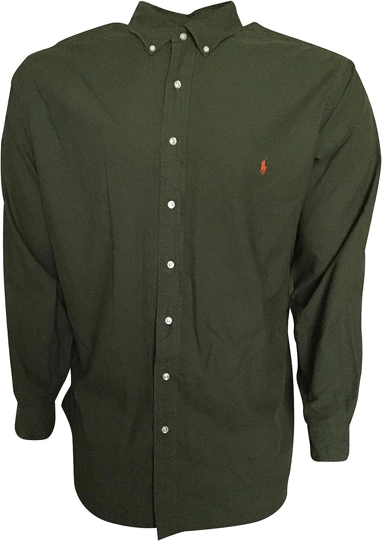 Polo Ralph Lauren Men's Button Up Shirt 100% Cotton Classic 711793804004 Green (X-Tall)
