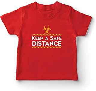 lepni.me Kids T-Shirt Keep a Safe Distance Stay Safe Social Distancing Slogan