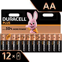 Duracell Plus AA Alkaline Batteries, 1.5 V LR06 MX1500, Pack of 12