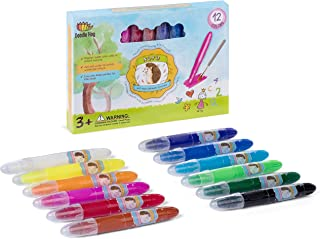 NOYO Gel Crayons for Toddlers and Kids | Non Toxic | 3 in 1 Extraordinary Bolder Crayons, Pastel and Watercolor Paint Effects (12 Colors)
