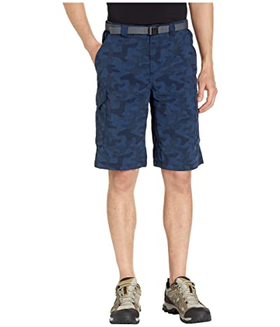 Columbia Silver Ridgetm Printed Cargo Short (Collegiate Navy Heather Camo Print) Men