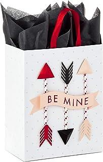 """Hallmark Paper Wonder 9"""" Medium Valentine`s Day Gift Bag with Tissue Paper (Be Mine Arrows)"""