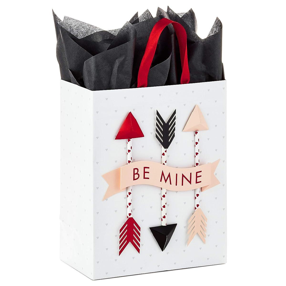 Hallmark Paper Wonder Medium Valentine's Day Gift Bag with Tissue Paper (Be Mine Arrows)