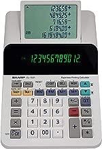 $47 » Sharp El-1501 Compact Cordless Paperless Large 12-Digit Display Desktop Printing Calculator That Utilizes Printing Calculator Logic (Renewed)