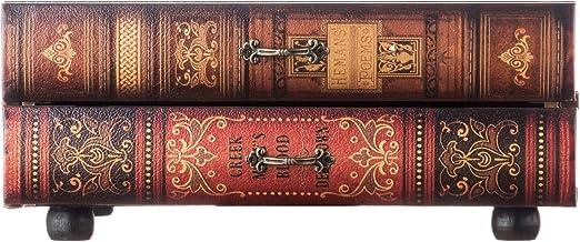 Livre cr/éatif Collection de Bijoux en Argent pour Rangement Billet de Rangement pour Livre Coffret de Rangement pour Coffre-Fort Dictionnaire Secret Rose Jacksking Mini Coffre-Fort