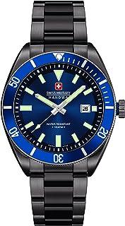 Swiss Military Hanowa - 06-5214.30.003 - Reloj analógico de cuarzo para hombre, correa de acero inoxidable chapado color negro