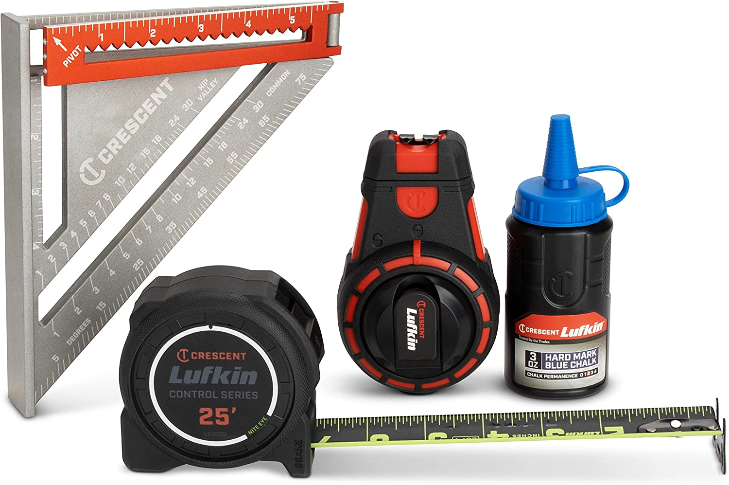 Crescent Action Pack with 25' Nite supreme Tape Measure Eye Super-cheap 2-in-1 Exte
