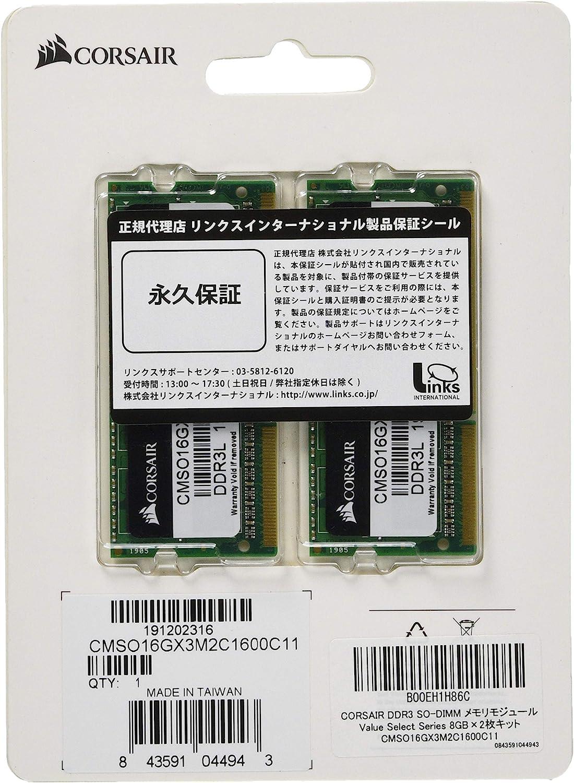 Corsair Cmso4gx3m1a1333c9 Value Select 4gb Ddr3 1333 Computer Zubehör
