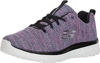 Skechers 斯凯奇 SKECHERS SPORT系列 女 绑带运动鞋 12614-BKW
