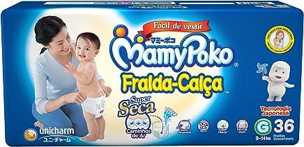 MamyPoko Fralda-Calça, Tamanho G (9-14 Kg), Pacote com 36 Unidades