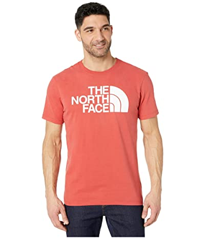 The North Face Short Sleeve Half Dome T-Shirt (Sunbaked Red) Men