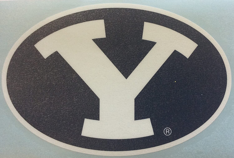 BYU Cougars, bluee  White Large Premium Vinyl Decal, Cornhole Boards