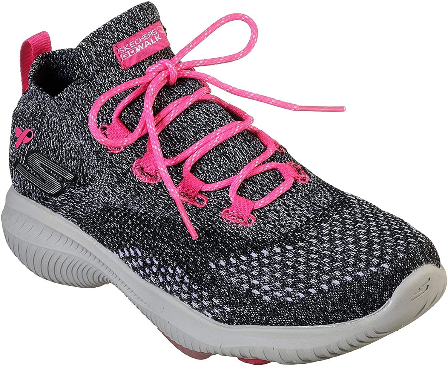 Skechers Womens's Go Walk Revolución Ultra, Walking, Black Pink, US M