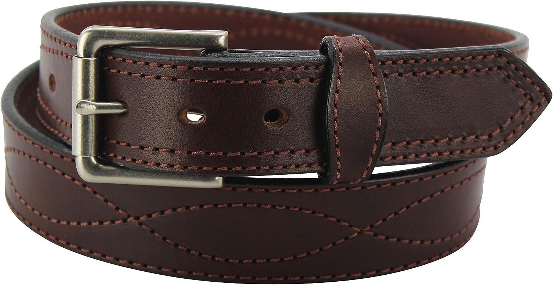 Men's Leather Belt – Figure 8 Columbus Mall Duty Stitched Heavy - Premium Max 59% OFF