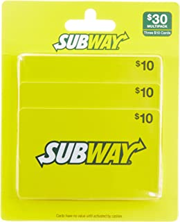 Subway Gift Cards, Multipack of 3