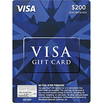 Amazon Com 200 Mastercard Gift Card Plus 6 95 Purchase Fee Gift Cards