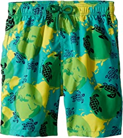 Vilebrequin Kids - Mappemonde Dots Swim Trunk (Big Kids)
