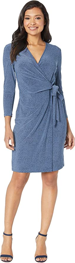 Robins Egg Faux Wrap Dress