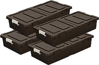 JEJ ベッド下収納ボックス 4個組 ブラウン 4510607004401