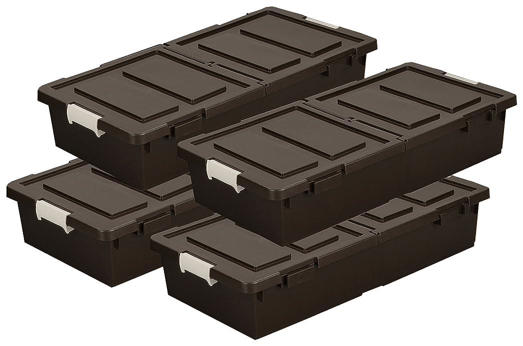 免除告白する宅配便ベッド下収納ボックス 4個組 BR