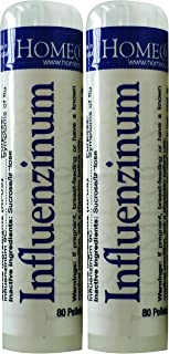 HomeoCare Labs Influenzinum 80 Pellets Tubes, 2 Count