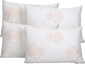 Healing Crystals India Fiber Filled Adjustable Fit Alternative Hypoallergenic Satin Sleeping Pillows for Side Back Sleeper...