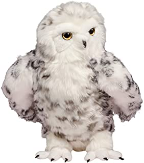 Douglas Plush Shimmer Large Snowy Owl Stuffed Animal with Jointed Head