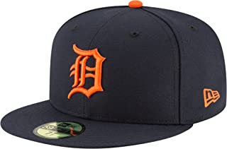 New Era 59Fifty Hat Detroit Tigers MLB Authentic Road Navy Blue Fitted Cap