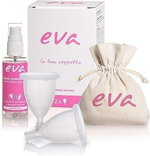 comprar comparacion Dulàc - Copa Menstrual Super-Soft - 2 tallas - Eva (Small + Large, Transparente)