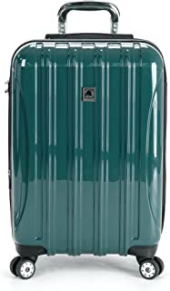 Delsey Luggage Helium Aero Carry On Expandable Spinner Trolley (Teal)