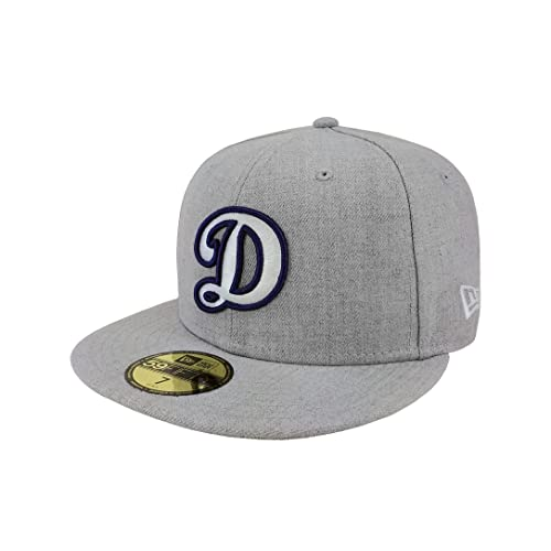 on sale 7e832 ace38 New Era 59Fifty Hat MLB Los Angeles Dodgers Fitted Baseball Heather Gray Cap