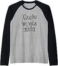 KLAATU BARADA NIKTO T-shirt Raglan Baseball Tee