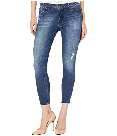KUT from the Kloth Petite Donna Ankle Jeans with Raw Edge Hem in Daydream Wash (Daydream Wash) Women