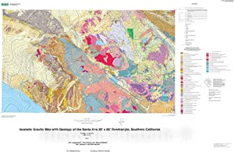 Historic Pictoric Map : Isostatic Gravity map with Geology of The Santa Ana 30' x 60' Quadrangle, Southern California, 2006 Cartography Wall Art : 44in x 29in