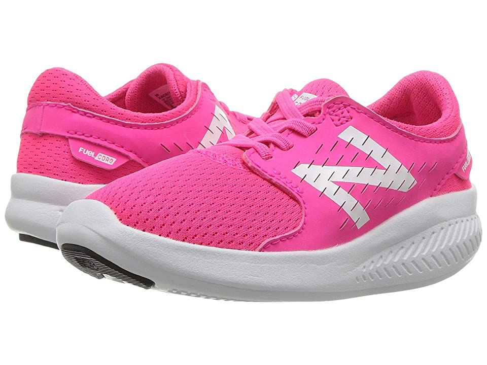 New Balance Kids FuelCore Coast v3 (Infant/Toddler) (Pink/White) Girls Shoes
