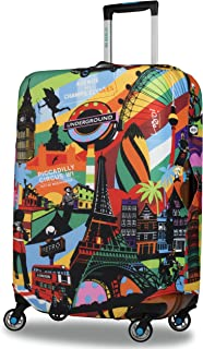 FOLPPLY USA American Map Flag Luggage Cover Baggage Suitcase Travel Protector Fit for 18-32 Inch