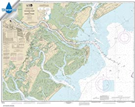 Paradise Cay Publications NOAA Chart 11512: Savannah River and Wassaw Sound 35.4 x 45.2 (WATERPROOF)