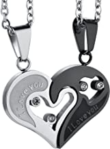 Best stainless steel couple necklace Reviews