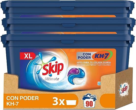 Skip Ultimate Detergente en Cápsulas Poder KH7 30 lavados - Pack de 3
