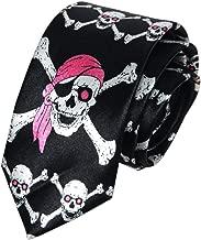 Secdtie Mens Boy Novelty Tie Super Skinny Fashion Skulls Halloween Necktie 1.97