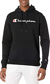 Men's Graphic Powerblend Fleece Hoodie Script Sweatshirt