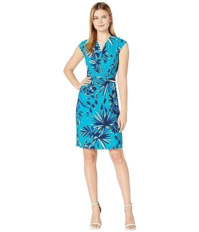 Tommy Bahama Botanical Blitz Dress Short Sleeve (Amalfi Sea) Women