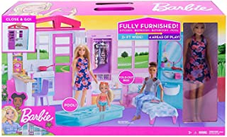 Barbie Close and Go fully furnished House and Doll (FXG55)