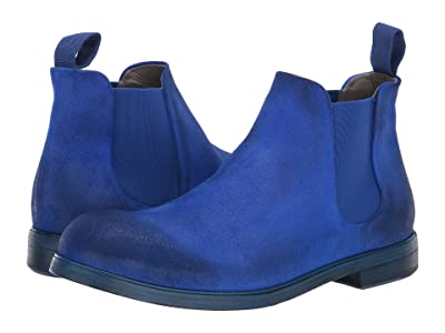 Marsell Suede Chelsea Boot (Colbalt) Men