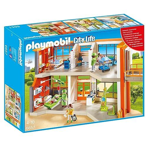 Playmobil Furnished Children's Hospital City Life Infantil, Color, Miscelanea (6657)